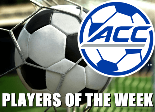 Soccer ACC Players Of The Week