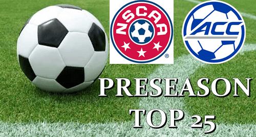 Soccer NSCAA ACC Preseason Top 25