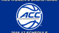 ACC Women's Basketball Schedule for 2016-17.