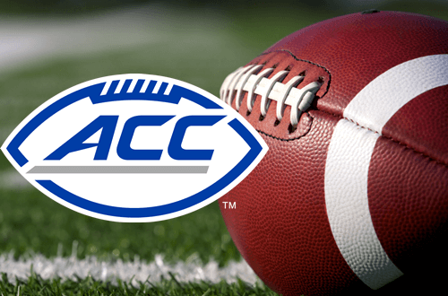 Football ACC Blue Lettering