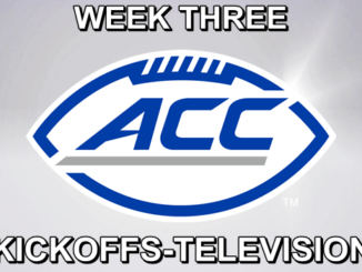 ACC Football Schedule for week three.