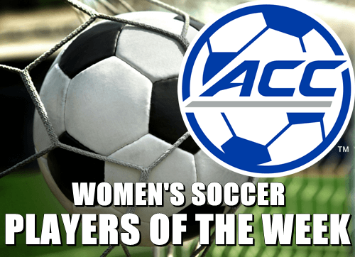 ACC Women's Soccer Players of the Week