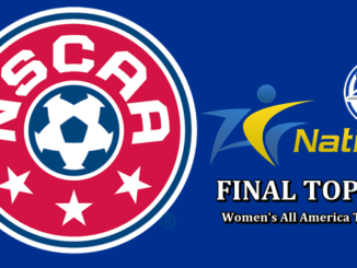 NSCAA Final Women's Soccer Top 25